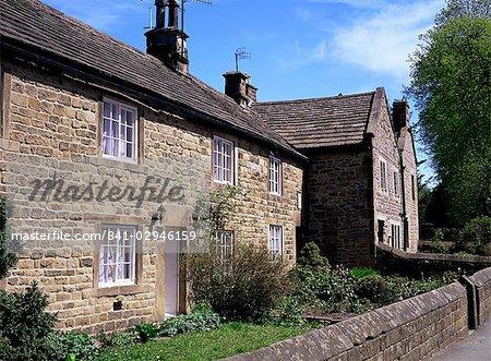 Rose and Plague cottages, Eyam, Derbyshire, England, United Kingdom, Europe