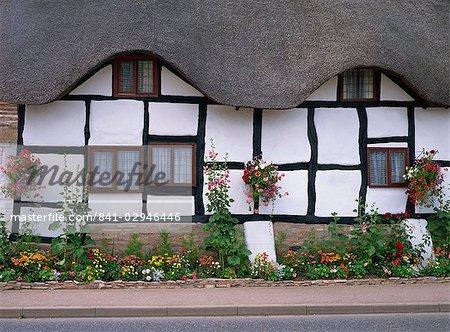 Thatched cottage, Worcestershire, England, United Kingdom, Europe