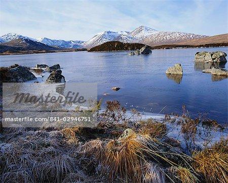 Lochan na h-Achlaise, Rannoch Moor, Strathclyde, Highlands Region, Scotland, United Kingdom, Europe