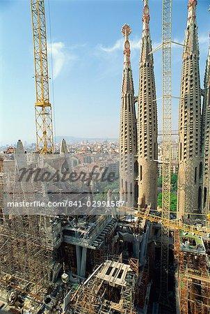 Gaudi's cathedral, Sagrada Familia, Barcelona, Catalonia, Spain, Europe
