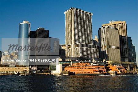 Staten Island ferry, Business district, Lower Manhattan, New York City, New York, United States of America, North America