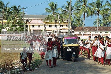 School children, Kerala state, India, Asia