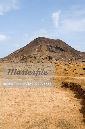 Remains of volcano near Calhau, Sao Vicente, Cape Verde Islands, Africa