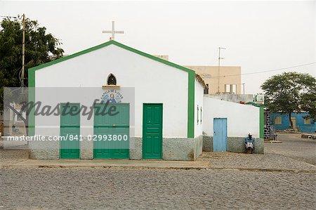 The town of Espargos, Sal, Cape Verde Islands, Africa