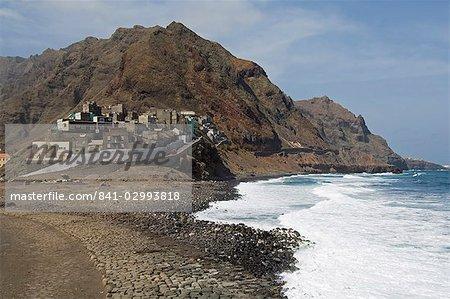 Coast near Ribiera Grande, Santo Antao, Cape Verde Islands, Atlantic, Africa