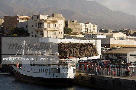 The Port of Porto Novo, Santo Antao, Cape Verde Islands, Atlantic, Africa