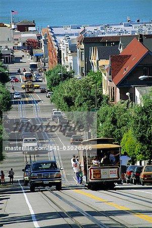 Street scene, Hyde Street, San Francisco, California, United States of America