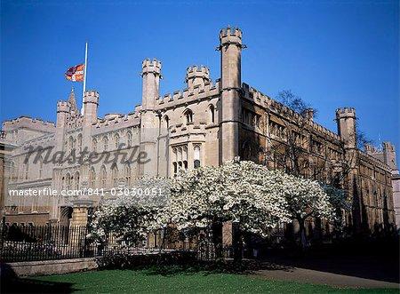 Old School buildings from Kings College, Cambridge, Cambridgeshire, England, United Kingdom, Europe
