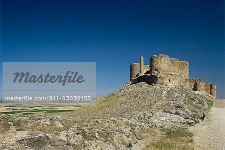 View of castle, Consuegra, Toledo, Castile La Mancha, Spain, Europe