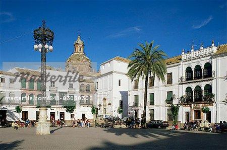 Main square, Carmona, Seville area, Andalucia, Spain, Europe