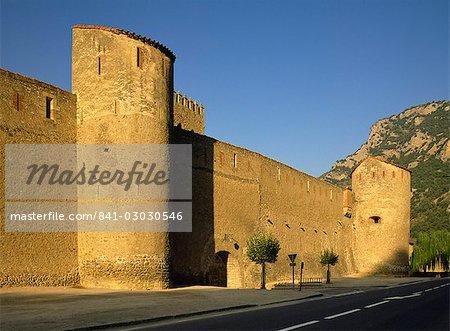 Village ramparts, Villefranche le Conflent, Languedoc Roussillon, France, Europe