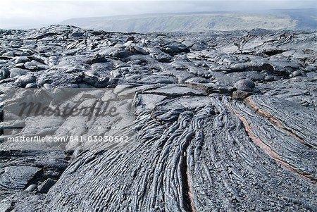 Cooled lava from recent eruption, Kilauea Volcano, Hawaii Volcanoes National Park, UNESCO World Heritage Site, Island of Hawaii (Big Island), Hawaii, United States of America, North America