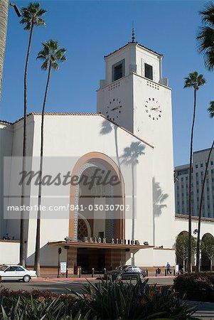 Union Station, railroad terminus, downtown, Los Angeles, California, United States of America, North America