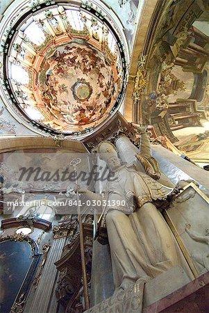 Interior of St. Nicholas Church, Mala Strana, Prague, Czech Republic, Europe