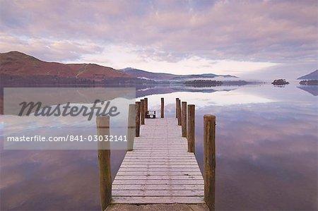 Barrow Bay Landing Stage, Derwent Water, Lake District, Cumbria, England, UK