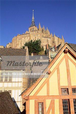 Mont Saint Michel (Mont-St. Michel), UNESCO World Heritage Site, Manche, Normandie (Normandy), France, Europe