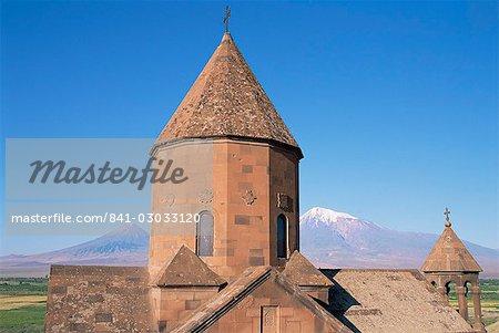 Khorvirap monastery, Mount Ararat region, Armenia, Central Asia, Asia
