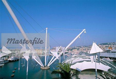 Bigo by Renzo Piano, Porto Antico, port area, Genoa (Genova), Liguria, Italy, Europe