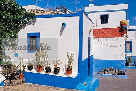 Typical old fisherman's house, Puerto de las Nieves, Gran Canaria, Canary Islands, Spain, Atlantic, Europe