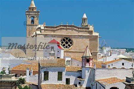 View of Ciutadella and cathedral, Ciutadella, Menorca (Minorca), Balearic Islands, Spain, Mediterranean, Europe