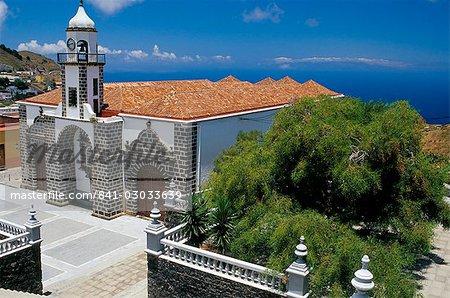 Main church and square, Valverde, El Hierro, Canary Islands, Spain, Atlantic, Europe