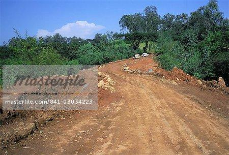 Rough road between Nekemte and Goulisoo,Oromo area,Welega state,Ethiopia,Africa