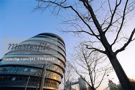 City Hall with Tower Bridge behind,London,England,United Kingdom,Europe