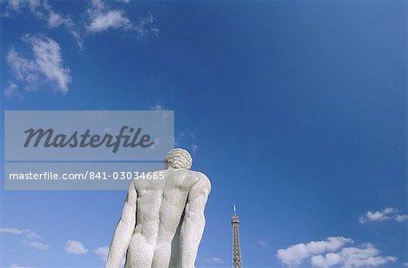 Statue near the Eiffel Tower,Paris,France,Europe