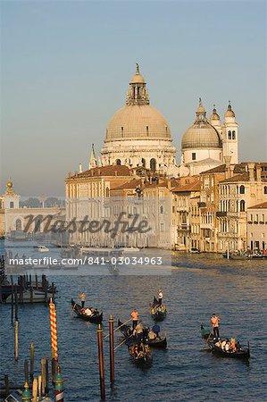 Gondolas on Grand Canal,Venice,Italy