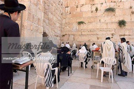 Praying at the Western (Wailing) Wall, Old Walled City