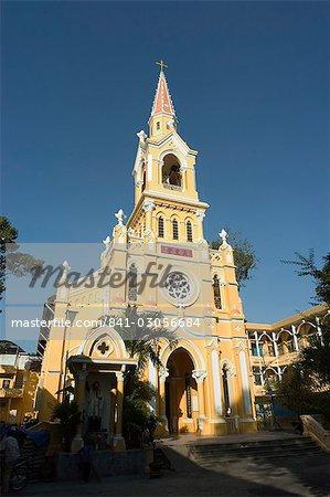 St. Francois Xavier church in Cholon Chinatown, where President Diem was captured during the coup d'etat in 1963, Ho Chi Minh City (Saigon), Vietnam, Southeast Asia, Asia