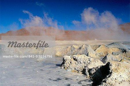 Hot springs and mud pools, Salar de Uyuni, Bolivia, South America