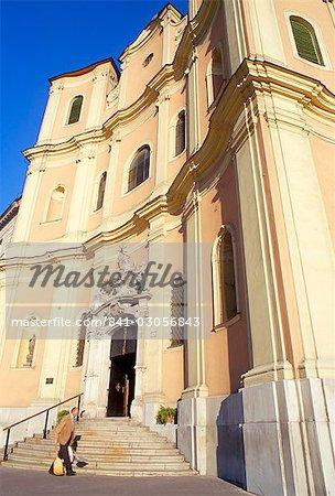 City's finest Baroque church of Holy Trinity (Kostol Trinitarov), Bratislava, Slovakia, Europe
