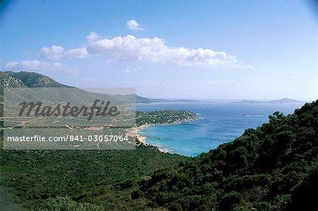 View of Villasimius, island of Sardinia, Italy, Mediterranean, Europe
