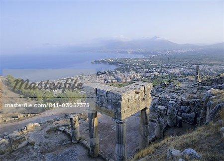 View of the coast, Solunto, Sicily, Italy, Mediterranean, Europe