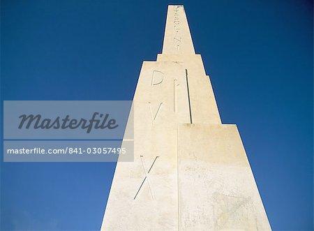 The Duce obelisk, Rome, Lazio, Italy, Europe