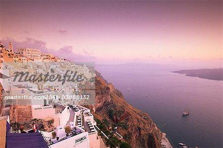 Fira, Santorini (Thira), Cyclades Islands, Aegean Sea, Greece, Europe