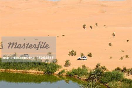 Mafu lake, Erg Awbari, Sahara desert, Fezzan, Libya, North Africa, Africa