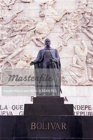 Statue of Simon Bolivar, Independence Monument, Los Proceres, Caracas, Venezuela, South America