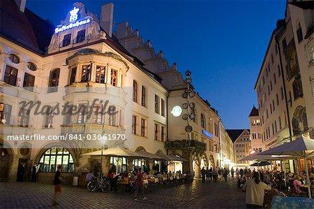 Hofbrauhaus restaurant at Platzl square, Munich's most famous beer hall, Munich, Bavaria, Germany, Europe
