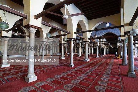 Al-Azhar Mosque, Khan Al-Khalili district, Cairo, Egypt, North Africa, Africa