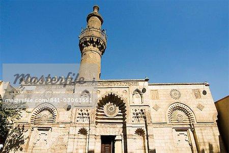 Al-Aqmar Mosque, Khan El Khalili, Cairo, Egypt, North Africa, Africa