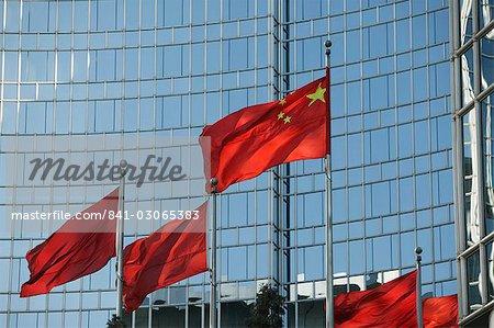 Chinese flag, Beijing, China, Asia
