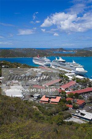 Havensight Cruise Ship Terminal, City of Charlotte Amalie, St. Thomas Island, U.S. Virgin Islands, West Indies, Caribbean, Central America