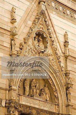 Detail of Duomo entrance, Naples, Campania, Italy, Europe