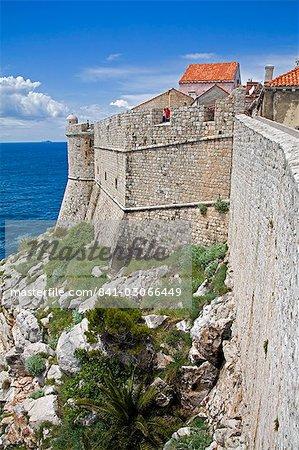 City Walls, Dubrovnik, Dalmatia, Croatia, Europe