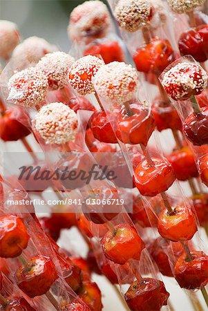 Candy apples, Kunming, Yunnan, China, Asia