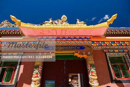 Entrance to Princess Wincheng temple, Yushu, Qinghai, China, Asia
