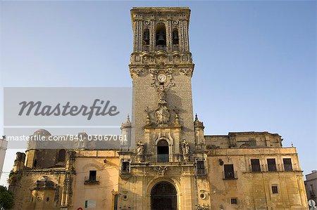 Santa Maria de la Asuncion church, Arcos de la Frontera, one of the white villages, Andalucia, Spain, Europe