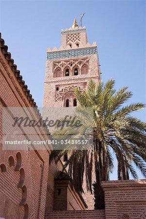 The Koutoubia Mosque, Djemaa el-Fna, Marrakesh, Morocco, North Africa, Africa